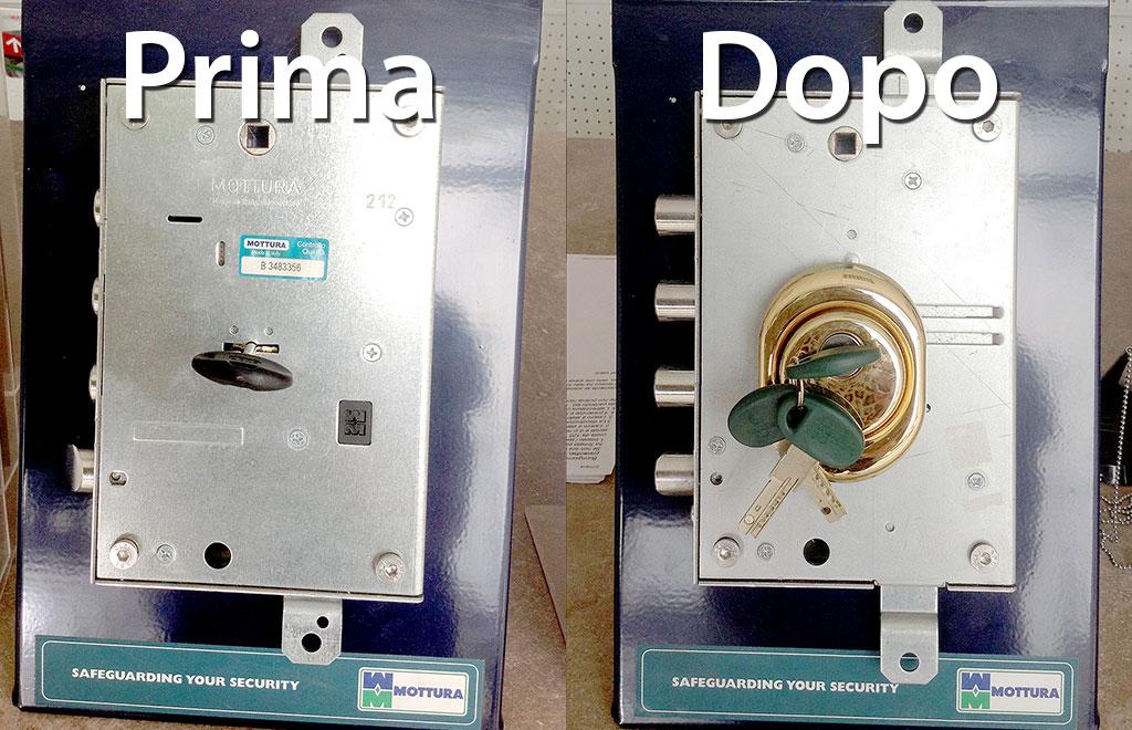 Conversione serratura da doppia mappa a cilindro europeo - Come cambiare serratura porta interna ...